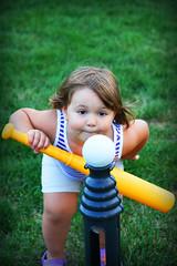 focus (nikki_g_114) Tags: playing sport ava kid backyard focus practice concentrate teeball