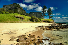 Views To Mt Lidgbird and Mt Gower,Lord Howe Island (Black Diamond Images) Tags: ocean sea sky mountain mountains tourism beach beautiful coral clouds spectacular landscape island landscapes scenery paradise scenic australia pines views golfcourse nsw beaches idyllic coralreef lordhoweisland norfolkislandpines australianbeach bdi coralisland midnorthcoast islandlandscapes australianbeaches holidaydestination beachaustralia bestofaustralia magicaustralia blackdiamondimages mtgower top20beaches worldheritagenationalpark mtlidgbird thelastparadise lordhoweislandbeaches