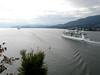 3 cruise ships heading west       …
