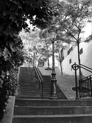 Escaliers et lanternes (Weingarten) Tags: paris france frankreich montmartre francia parigi