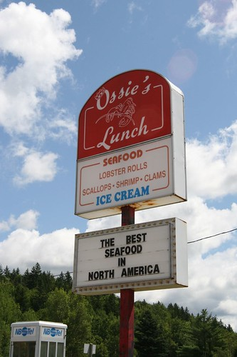Ossie's Lunch, Bethel, N.B.