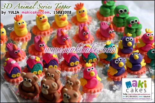 3D Animal Series Topper - Maki Cakes
