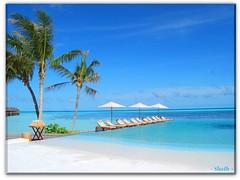 Straight from my heart .... (Shath) Tags: blue sky holiday tree clouds umbrella chair lagoon palm beaches maldives whitesand damp blueribbonwinner dhiva damps anawesomeshot shath whitesandy goldenheartaward