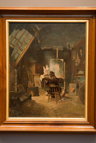 Samuel Marsden Brookes in His Studio by Edwin Deakin (by Phanix)