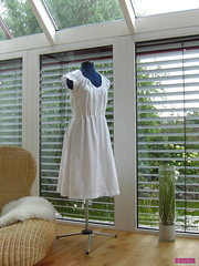 The White Dress (sew-mad) Tags: white fashion magazine japanese book dress sewing craft mrs eyelet drafting nhen stylebook sewmad
