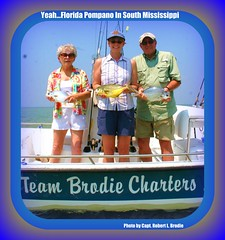 Fishing Mississippi - Catching Florida Pompano In South Mississippi  Is A Blast! - Photo By Capt. Robert L. Brodie (teambrodiecharters) Tags: fish beautiful islands fishing surffishing pompano shipisland girlswithfish charterboat guideservice bottomfishing mrshawkins davidhawkins beautifulfish floridapompano islandfishing guidedfishing teambrodiecharters fishinggirls ladyanglers deiannahawkins