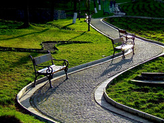 Ukraine, Kiev. A Sunny park. (lights2008) Tags: park summer sun grass fun ukraine kiev    lavra   blueribbonwinner fujifilmfinepix     goldstaraward absolutelystunningscapes