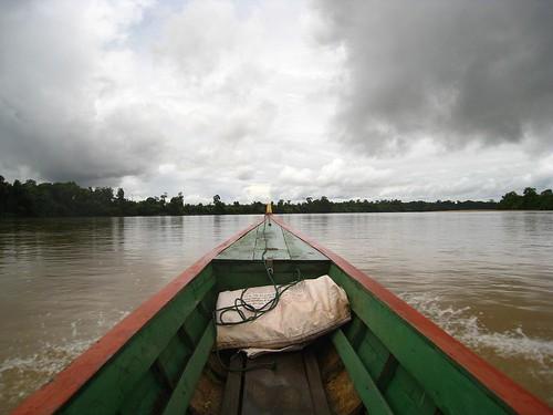 Boat ride in northeastern Cambodia