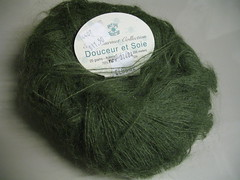 Mohairy yarn.