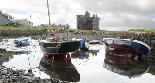 Portencross castle and harbour