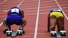 In the Blocks (Starmaker Photos) Tags: carnival man black male college philadelphia sports field race photography athletic athletics university track pennsylvania muscular young running run pa penn africanamerican runner sprint 2008 hurdles relays sprinting bopr
