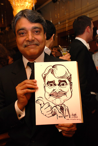 Caricature live sketching for Standard Chartered Bank Legal Learning Event 3