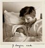 Berthy's Fotoalbum (lambertwm) Tags: bw baby film vintage born photo blackwhite bed child mother grainy sixties 1964 viewcount 7days pasgeboren 7dagen lwmfav