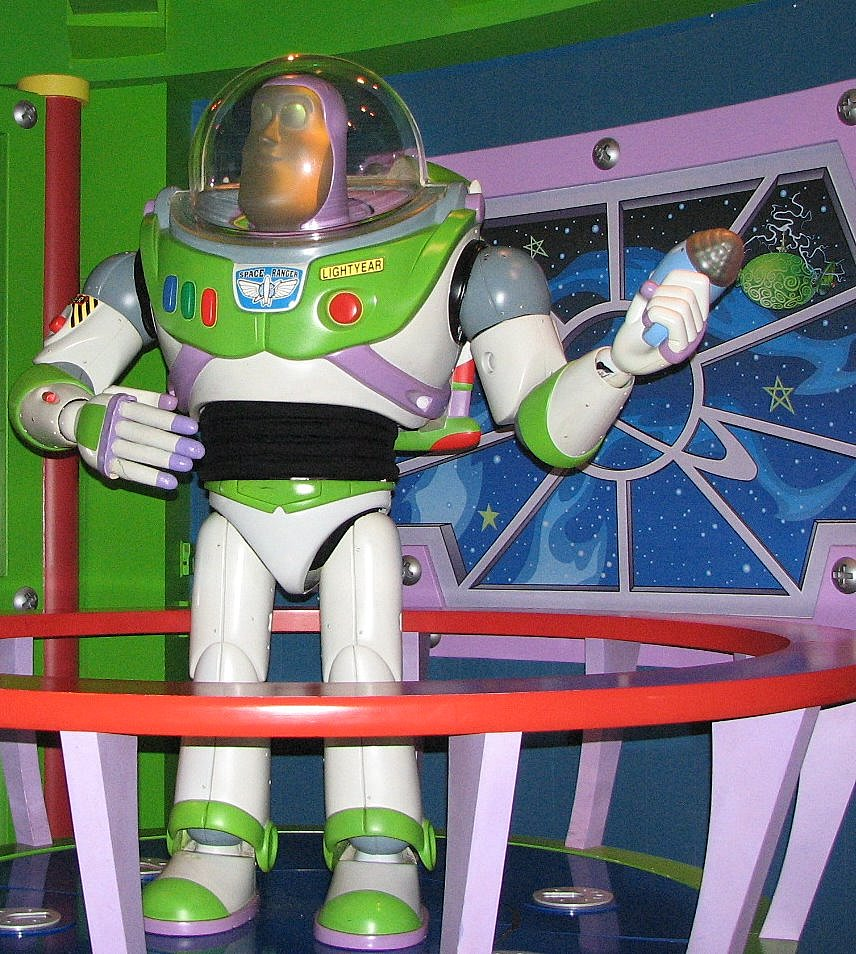 Buzz Lightyear--a Disneyland star!!!