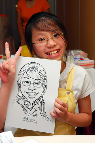 Caricature live sketching for birthday party 3