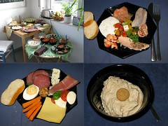 Geburtstagsfrhstcksbuffett eines Freundes (multipel_bleiben) Tags: essen fisch frhstck nachtisch