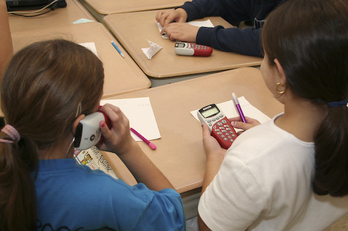 Students using clickers
