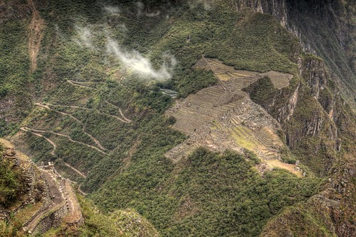 Machu Picchu and the Road from Aguas Calientes