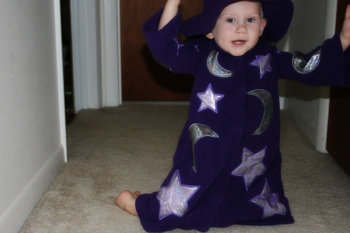 Nathan in his full wizard costume