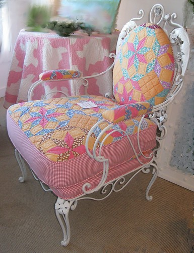Quilt upholstered chair  2