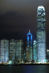 Hong Kong - Central's Skyscrapers at Night (cnmark) Tags: china light two house building tower skyline architecture modern night skyscraper buildings square geotagged boats hongkong one hotel noche boat ship nacht crane centre ships central bank hong kong explore international land noite tall  1001nights  grattacielo nuit ifc exchange barge gebude notte reclamation nachtaufnahme finance tallest barges wolkenkratzer jardine rascacielo gratteciel  arranhacu 2ifc thecenter 1ifc explored allrightsreserved  anawesomeshot aplusphoto amazingamateur theunforgettablepictures theperfectphotographer goldstaraward damniwishidtakenthat geo:lon=114172009 geo:lat=22284465 nikonflickraward50mostinteresting