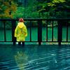 Autumn Rain (TheJbot) Tags: lake green rain japan deck 日本 lonely raincoat jbot supershot inagako thejbot