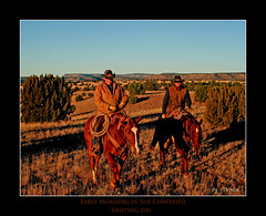 Heading out across the Chaperito Trap (Outdoor Exposure by Denise) Tags: ranch newmexico cowboy cattle shipping ranching ranchlife chaperito newmexicocowboy