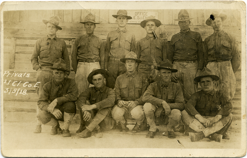 Postcard: PFCs, Co.E., 1918