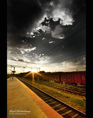 KR Puram Railway Station (@k@sh) Tags: life sunset bw station canon 350d 10 bangalore sigma railway scout read kr 1020 partial akash 10mm btm puram explored xplore aplusphoto nospecialprocessing