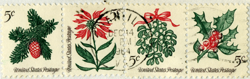 Holiday Stamps 1962