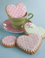 Embossed cookies (cakejournal) Tags: pink green cookies hearts cookie teal decorate sugarcookies embossing mmf sweettreats embossedcookies