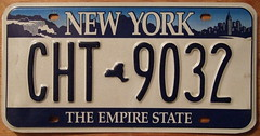 NEW YORK 2003-CURRENT LICENSE PLATE