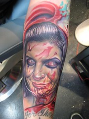 I'm officially a Zombie (BaronessEast) Tags: portrait color tattoo ink zombie nikko realism ignition hurado