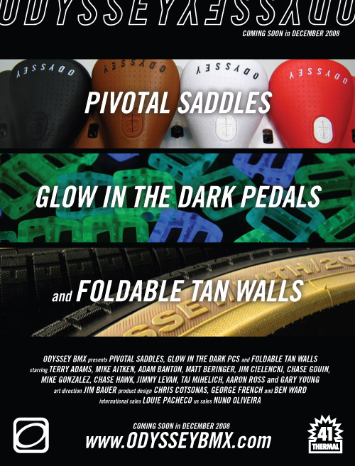 Pivotal Saddles, Glow in the Dark Pedals, Foldable Tan Walls