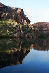 King George River Reflection 3 (ZenDane) Tags: water rock river coast george nikon king hiking australia climbing western gorge walls kimberly the riverwater d80