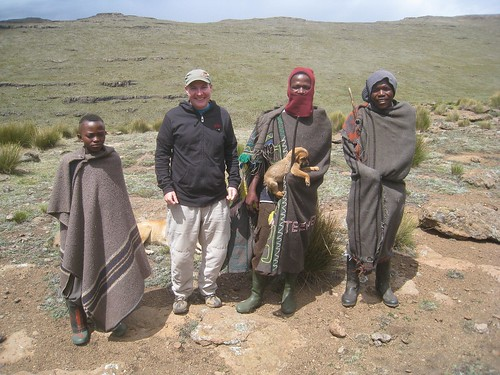 Chillin' with the Basotho shepherds