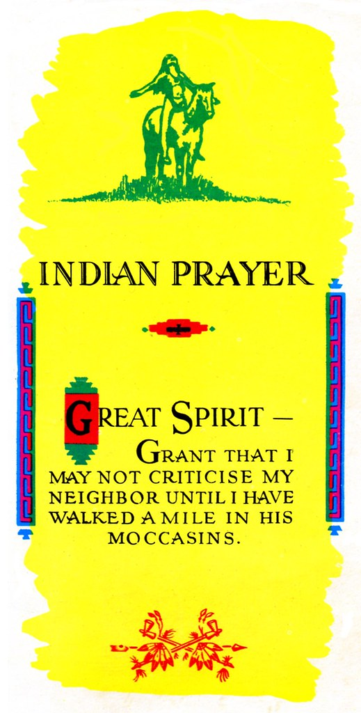 Indian Prayer from St. Francis Indian Mission - Front
