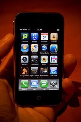 ¿Las tienes todas?. Aplicaciones en un iPhone de Hakan Dahlstroms