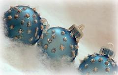 Fa la la la la (lynne_b) Tags: christmas blue decorations stilllife snow still soft seasons balls cotton ornaments archives orbs embellished christmasornaments