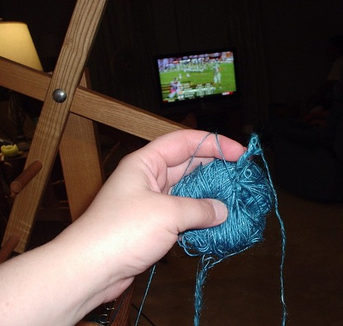 The Cookie Monster Yarn Gets Tangled