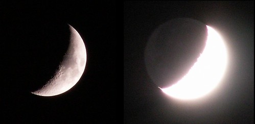 Moon and Earthshine, 3 Dec. 2008