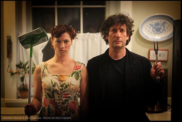 Amanda Palmer and Neil Gaiman - Photo by Kyle Cassidy
