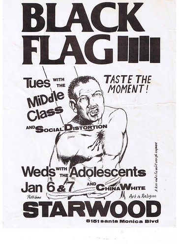 Black Flag at the Starwood 1981