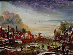 Neer's 'A Frozen River by a Town at Evening'. (davidezartz) Tags: wood bridge people holland macro ice windmill dutch amsterdam birds closeup clouds wow river boats evening landscapes town frozen nikon artist horizon thenetherlands style painter receding moonlight copy soe oils waterway oldmaster technicolour artus neer e3100 blueribbonwinner wonderfulworld supershot nikone3100 flickrsbest aert nikonstunninggallery fineartphotos flickrcolour abigfave omot artlibre anawesomeshot diamondclassphotographer flickrdiamond ysplix dutchgoldenage excellentphotographerawards theunforgettablepictures platinumheartaward closetoreality betterthangood theperfectphotographer goldstaraward flickrestrellas artgalleryandmuseums multimegashot quarzoespecial rubyphotographer awardtree atqueartificia lesamisdupetitprince dragondaggerphoto artofimages novavitanewlife afrozenriverbyatownatevening aernoutvanderneer 16031677 tarot78