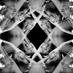 (stereomind) Tags: blackandwhite kaleidoscope multipleexposure artcafe caleidoscpio