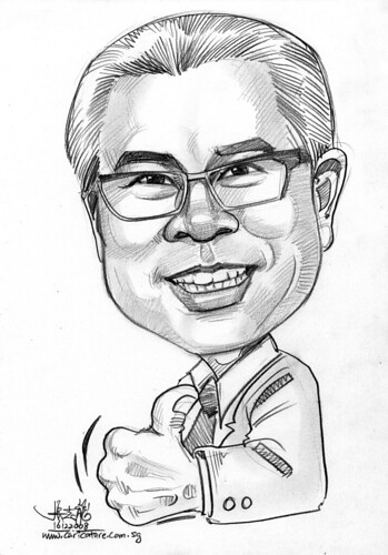 Caricature for Singapore Chinese Chamber of Commerce & Industry