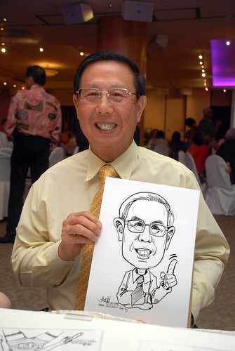 Caricature live sketching for Christ Methodist Church Christmas Celebration - 3