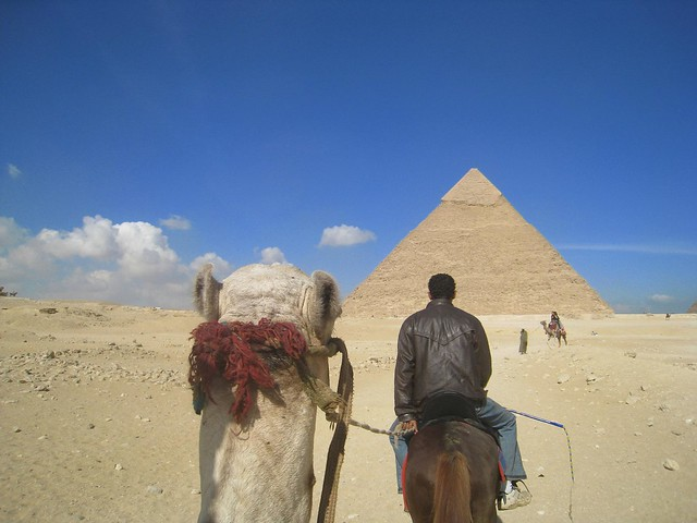 Approaching The Great Pyramids of Giza