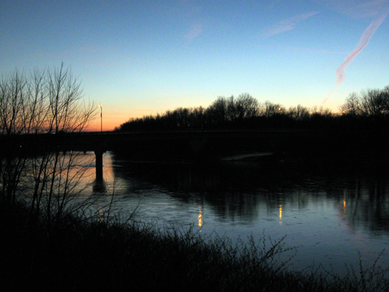 Sunset Over the River (Click to enlarge)