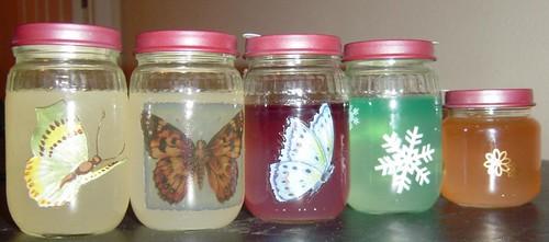 home fragrance jars